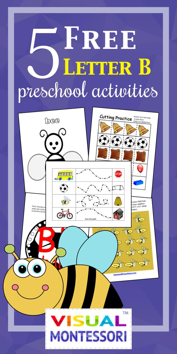 Free Preschool Alphabet Letter B Activities For Prek  Preschool