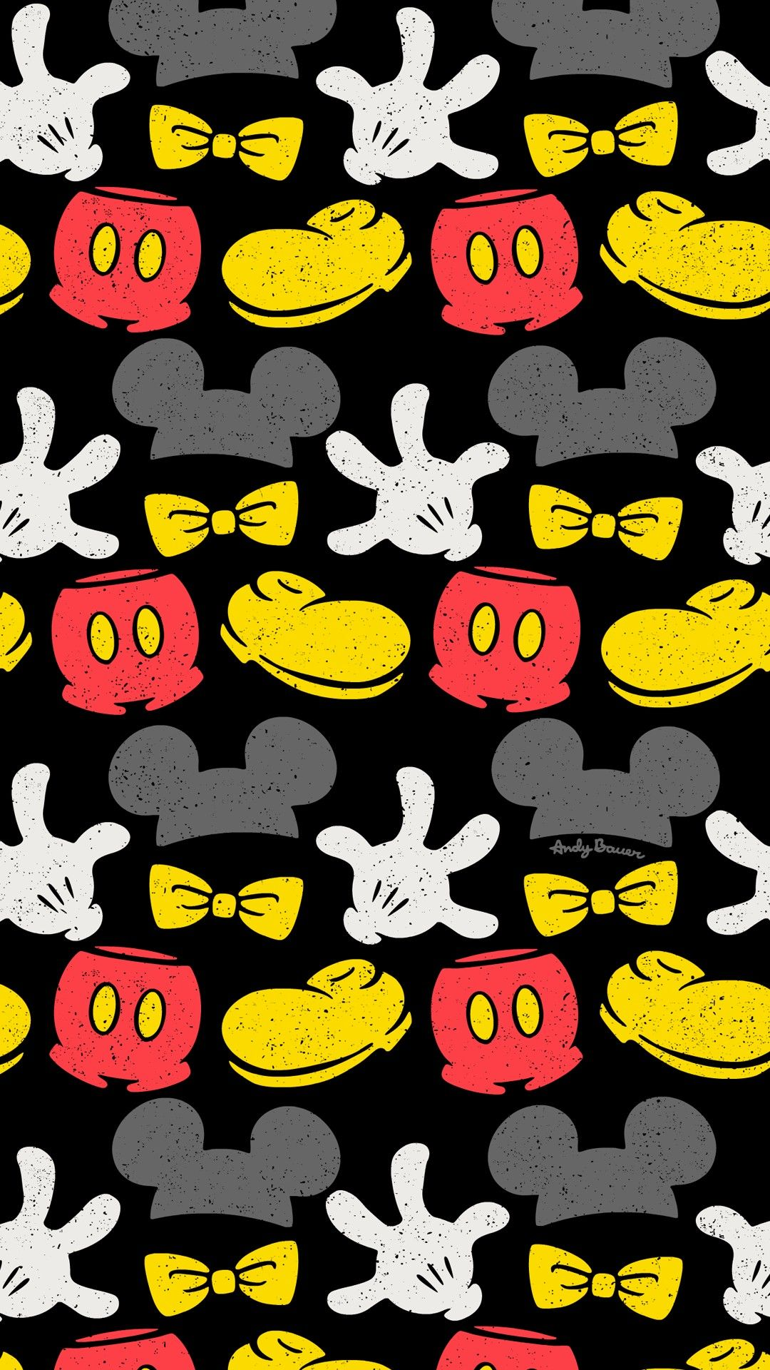 Mickey mouse repeat pattern surface design wallpaper free