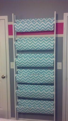 Bookshelf Using Fabric As Hanging Shelves Perfect For Socks Purses Underwear Hats