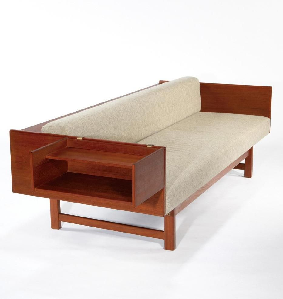 Yngve Ekstrom - Convertible sofa,daybed with cantilevered side table ...