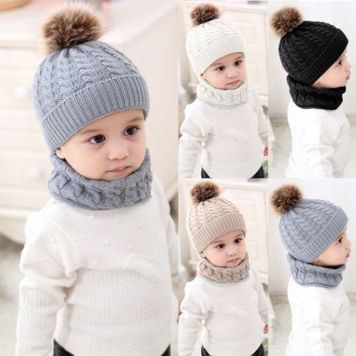 471a031fab56 Baby-Toddler-Kids-Boy-Girl-Winter-Warm-Knitted-Crochet-Beanie-Hat ...