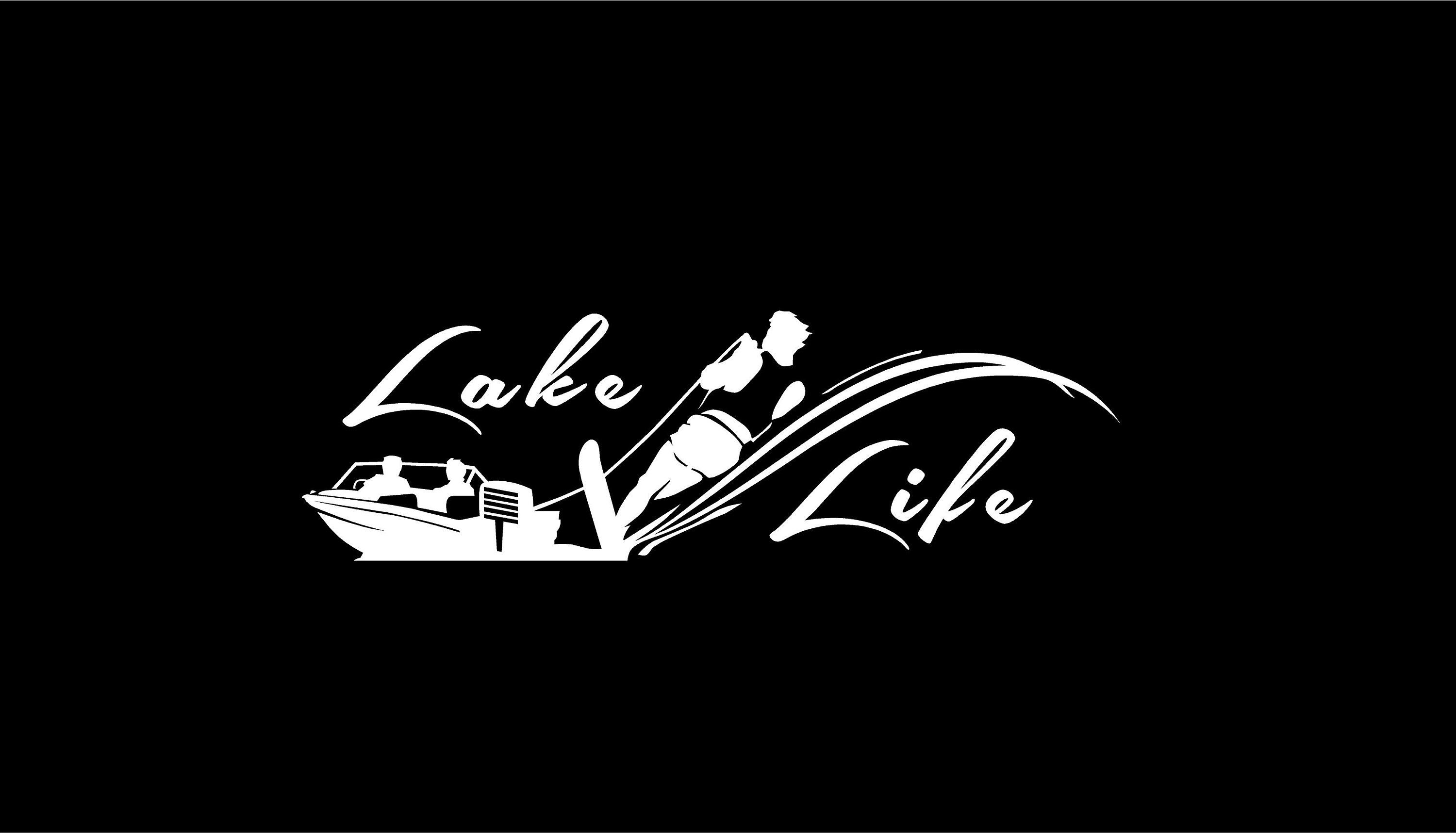 Lake Life Decal Water Skier Decal Boat Decal Vinyl Decal Car Truck Auto Vehicle Window Custom Sticker Water Sports D Boat Decals Car Decals Vinyl Sports Decals [ 1717 x 3000 Pixel ]