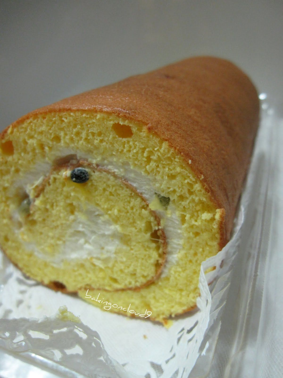 Baking On Cloud 9 Passionfruit Swiss Roll Cakes