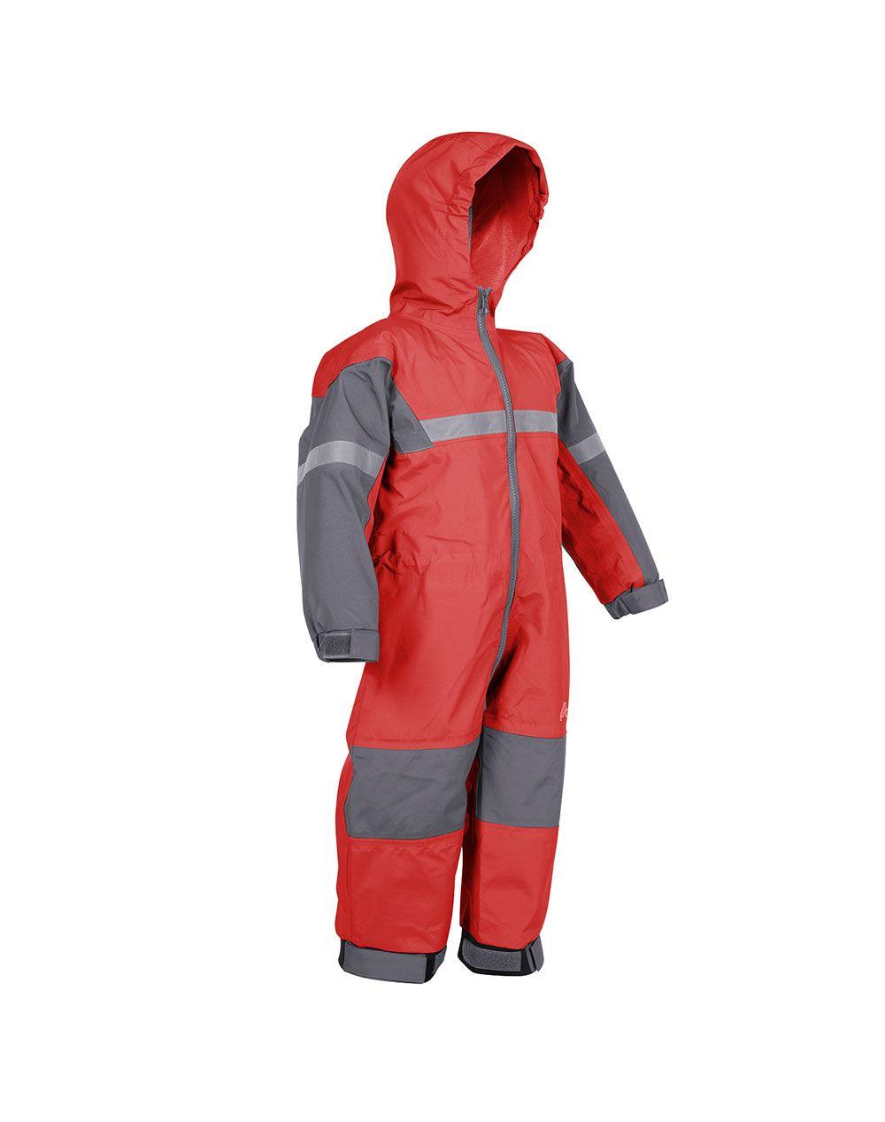 954d1a61c Children's Trail One Piece Rain Suit, Fiery Red | Oakiwear - Rain Gear,  Kids rain suits, kids waders, kids rain gear, and kids rain coats