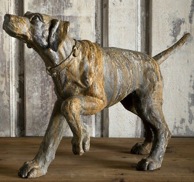 This Friendly Hound Dog Statue Is Pointing To The Prey Assisting The Bird  Hunt. For More Dog Statues Visit Antique Farmhouse.