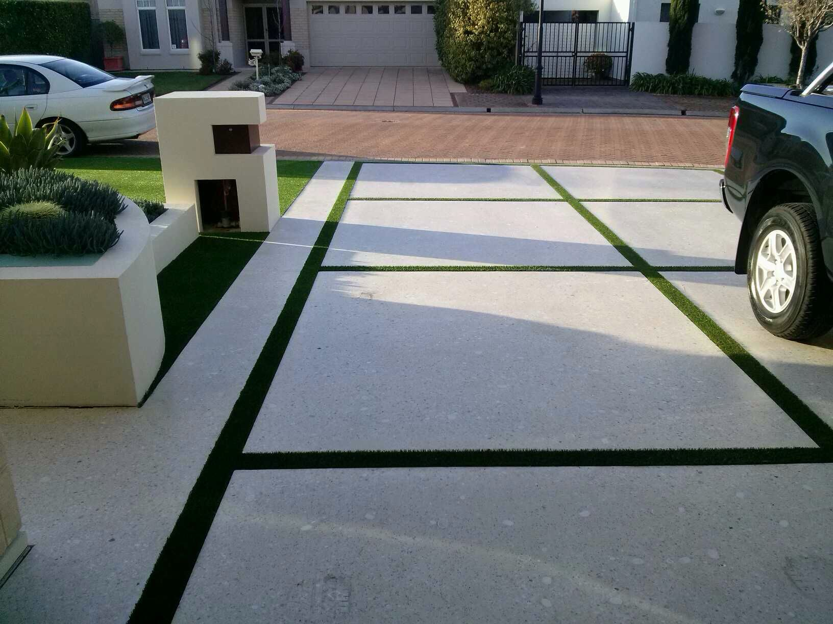 Pin by Carrie Parker on AG Ideas | Concrete backyard ... on Backyard Ideas Concrete And Grass id=97390