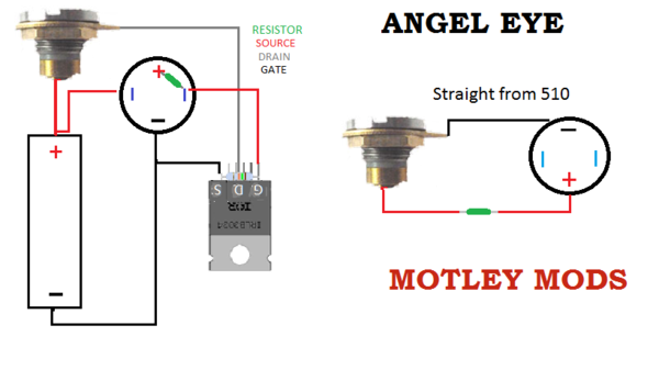 Motley Mods Box Mod Wiring Diagrams,Led Button,Switch Parallel Series,Led  Angel Eye Button,wiring pwm box mod,okr t10,okl… | Box mods, Box mod vape  diy, Diy box modPinterest