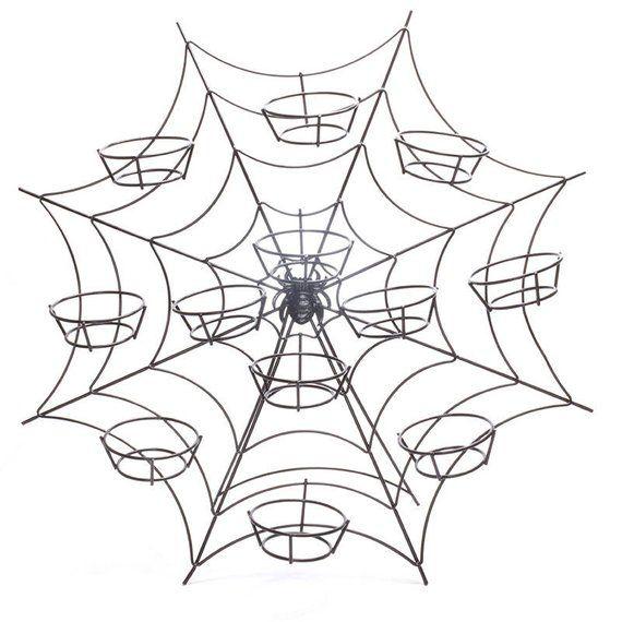 Spiders Web Halloween Cupcake Stand Cake Baking Display