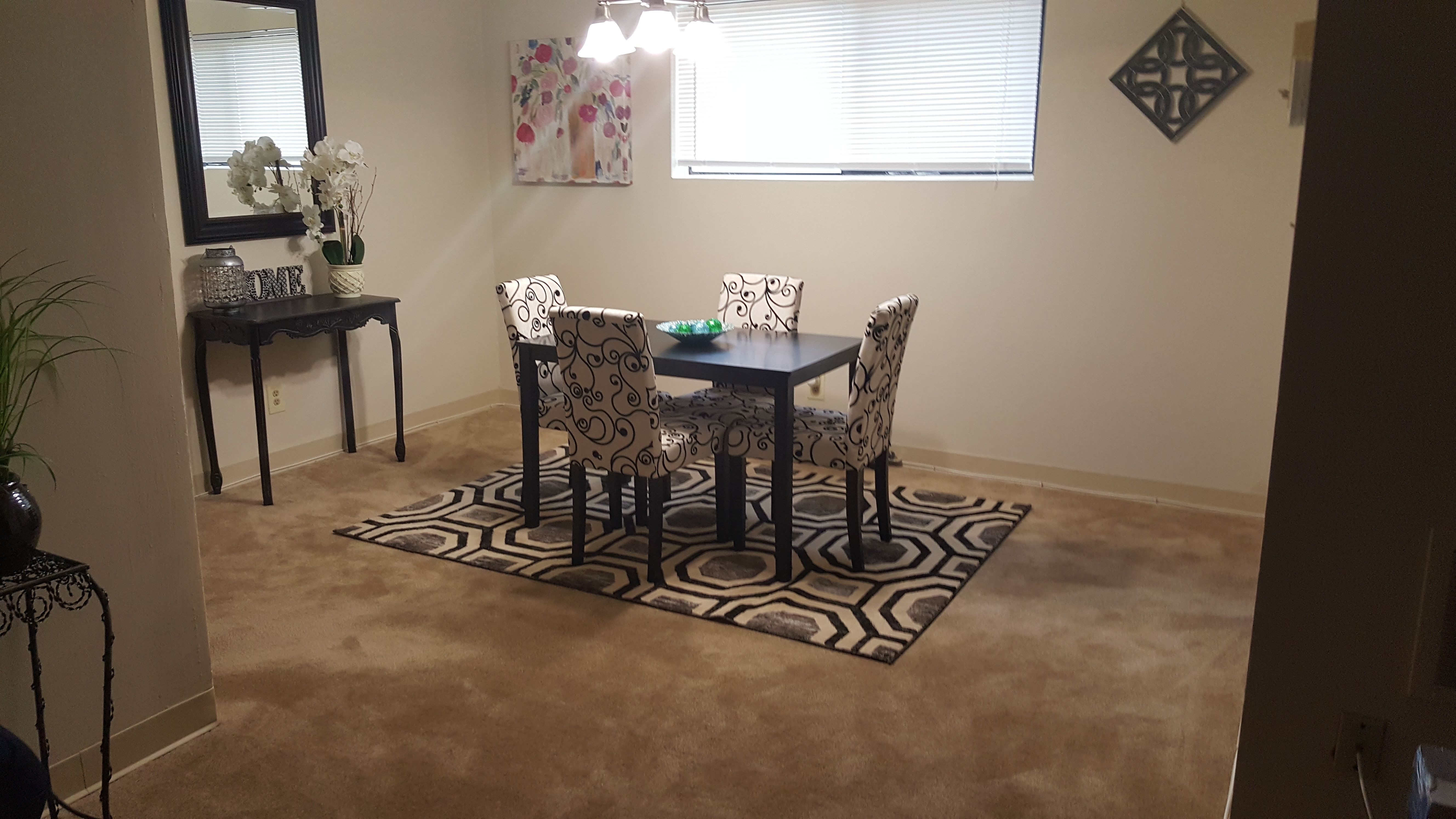 Wonderful entertaining space at Fox Glen Apartments in Mt