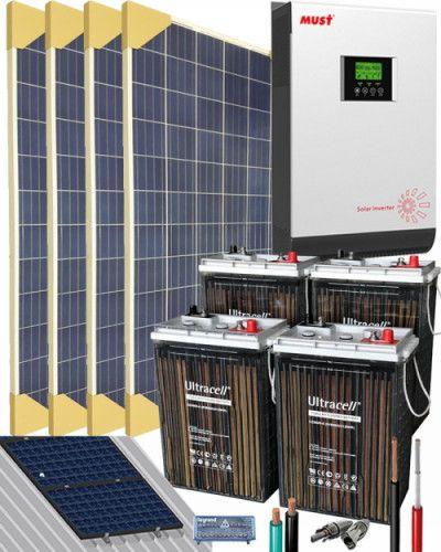 Kit Solar Vivienda Aislada 3000W 24V 6400Whdia Bienen