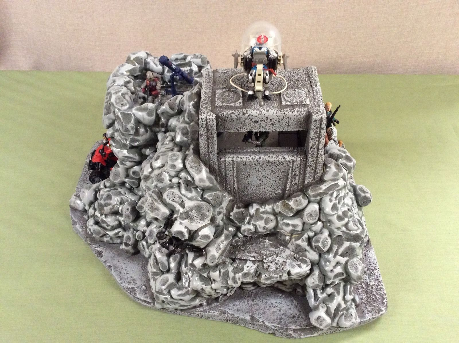 Custom GI Joe Mountain Base Diorama   Model Trains, Dioramic, & Lego