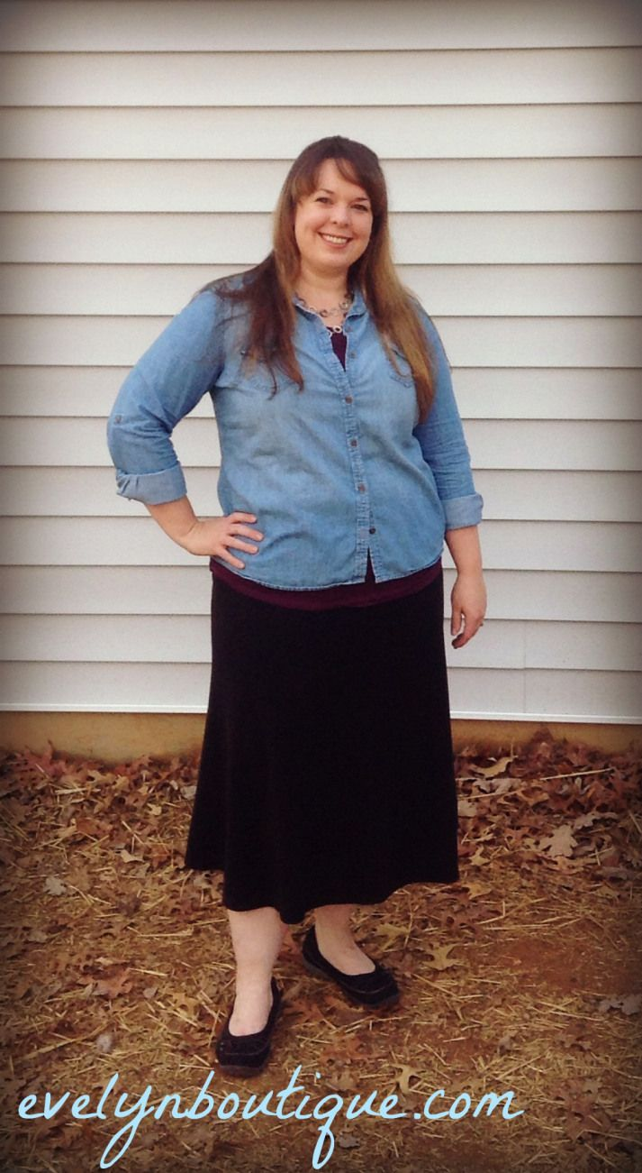 plus size modest skirt outfit   Skirt outfits modest, Modest ...