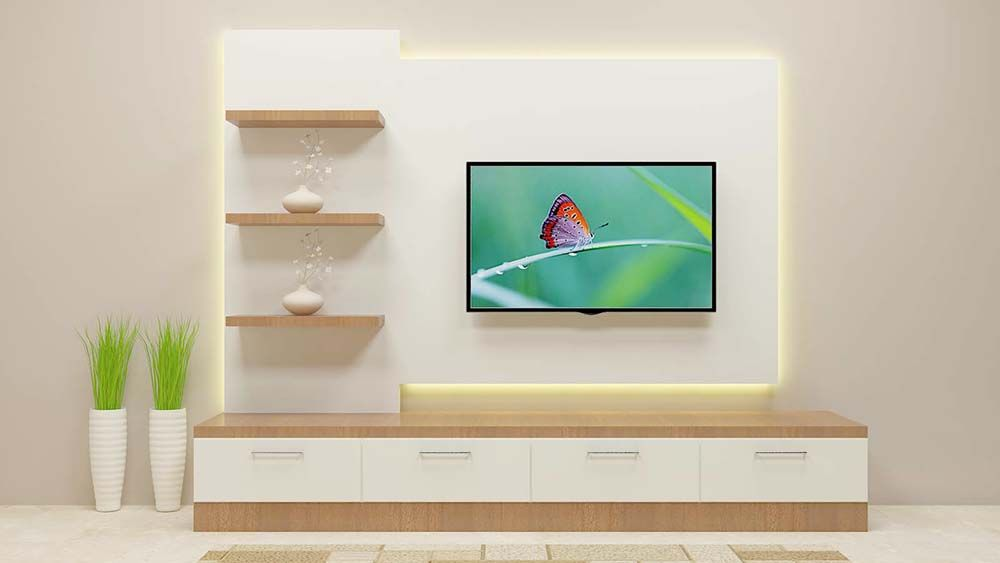 Fashionably elegant and sophisticated tv unit consisting for Elegant wall units