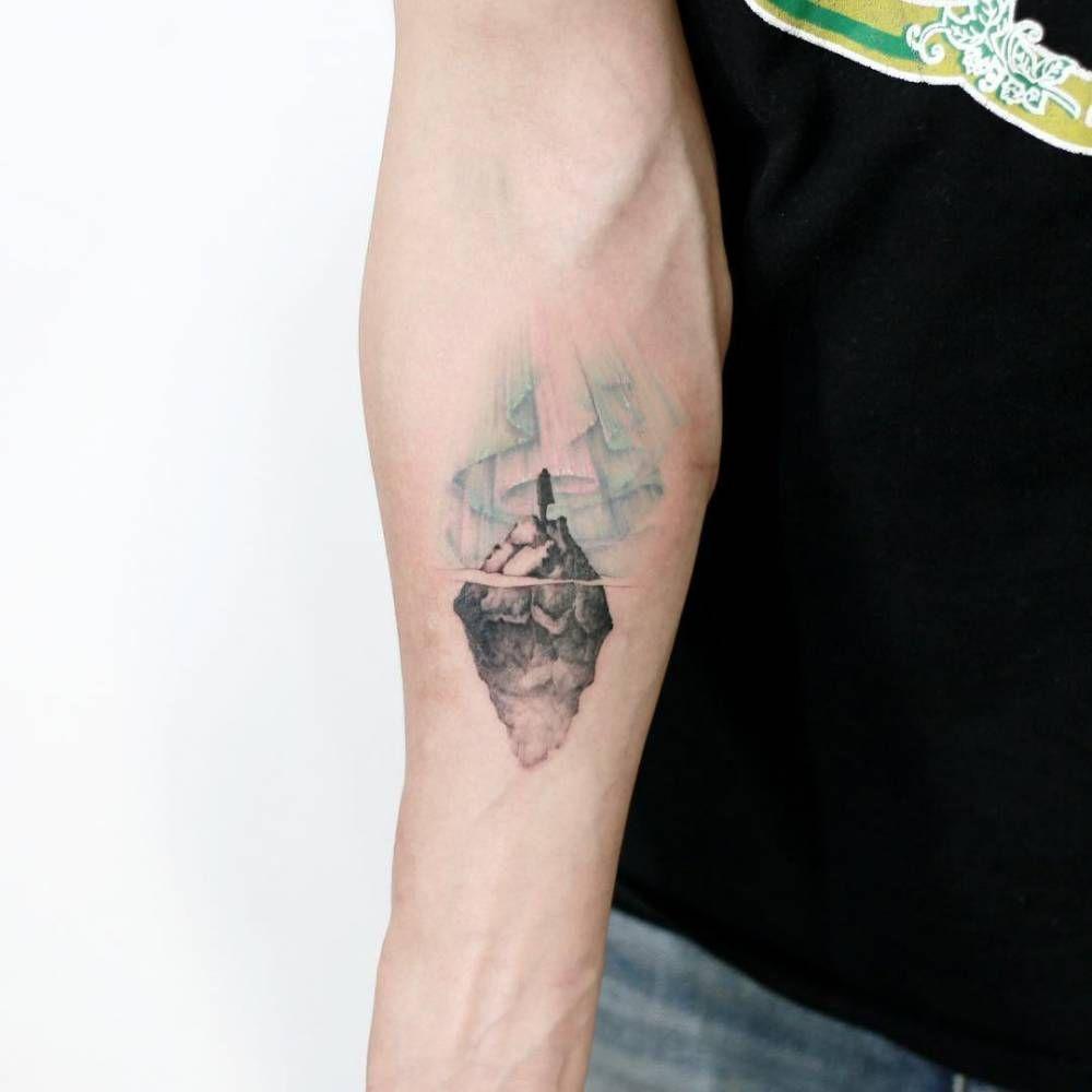 Iceberg woman aurora small tattoos tattoos dainty