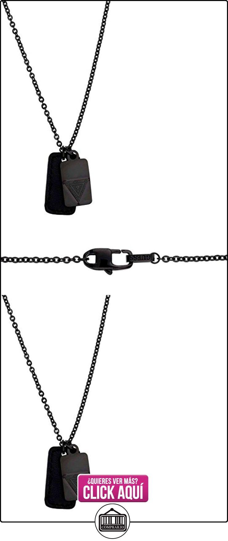 Para hombre Guess negro de litio-acero bañado en collar con colgante en forma UMN21507  ✿ Joyas para mujer - Las mejores ofertas ✿ ▬► Ver oferta: https://comprar.io/goto/B00TXOU19Y