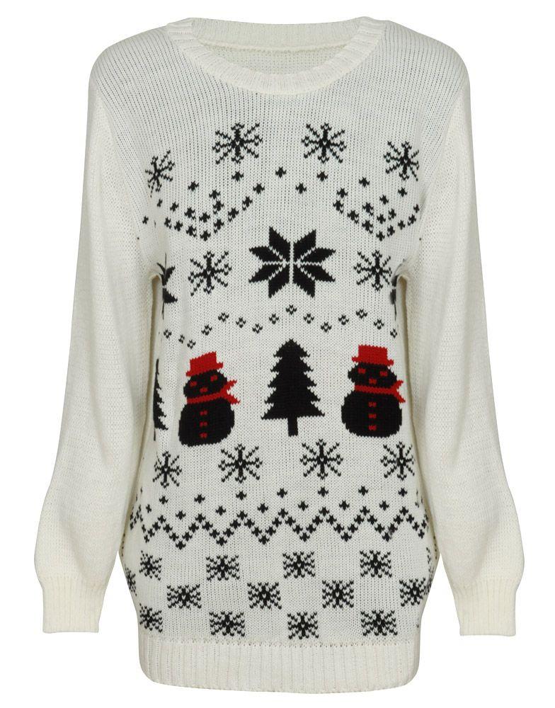 Snowman and Fairisle Print Christmas Jumper in Cream £ 14.95 ...