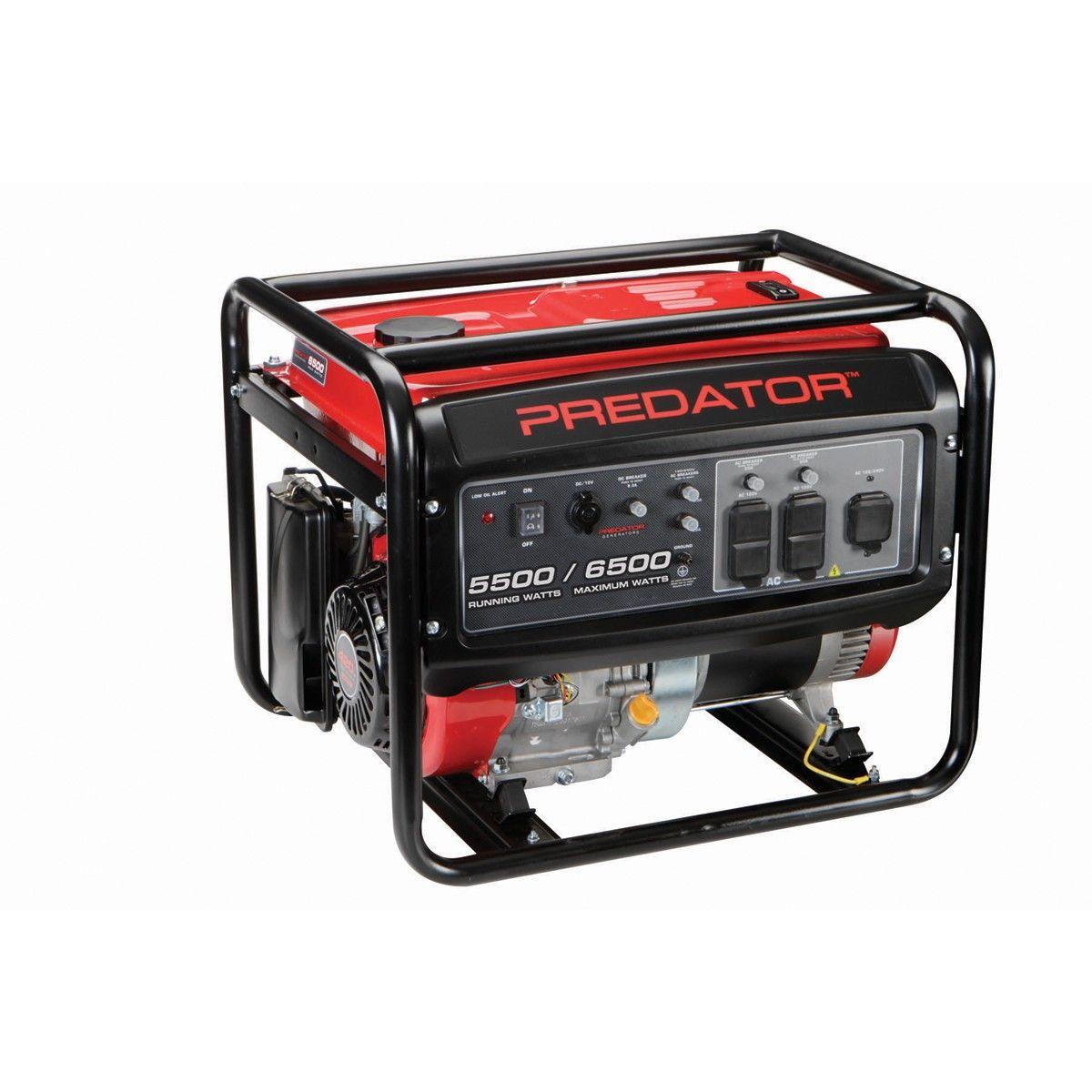 6500 Peak/5500 Running Watts, 13 HP (420cc) Gas Generator