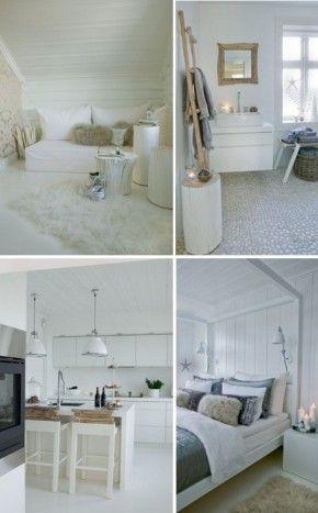 Scandinavisch interieur: veel wit en natuurlijke materialen. | beaux ...