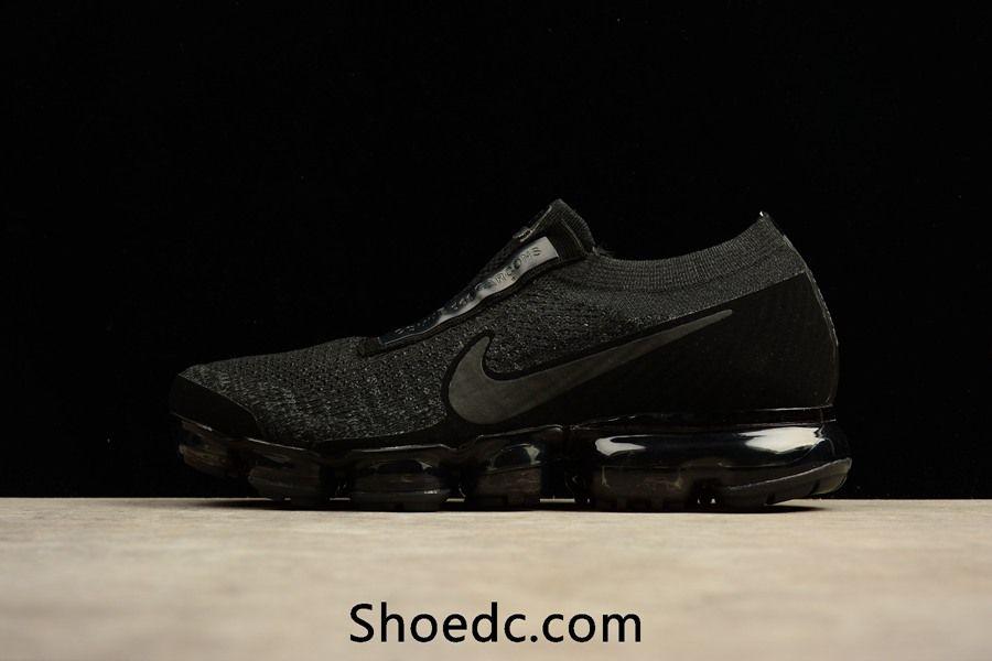 size 40 8b16a 314c4 New Coming Nike Air VaporMax 2018 Flyknit All Black Women Men