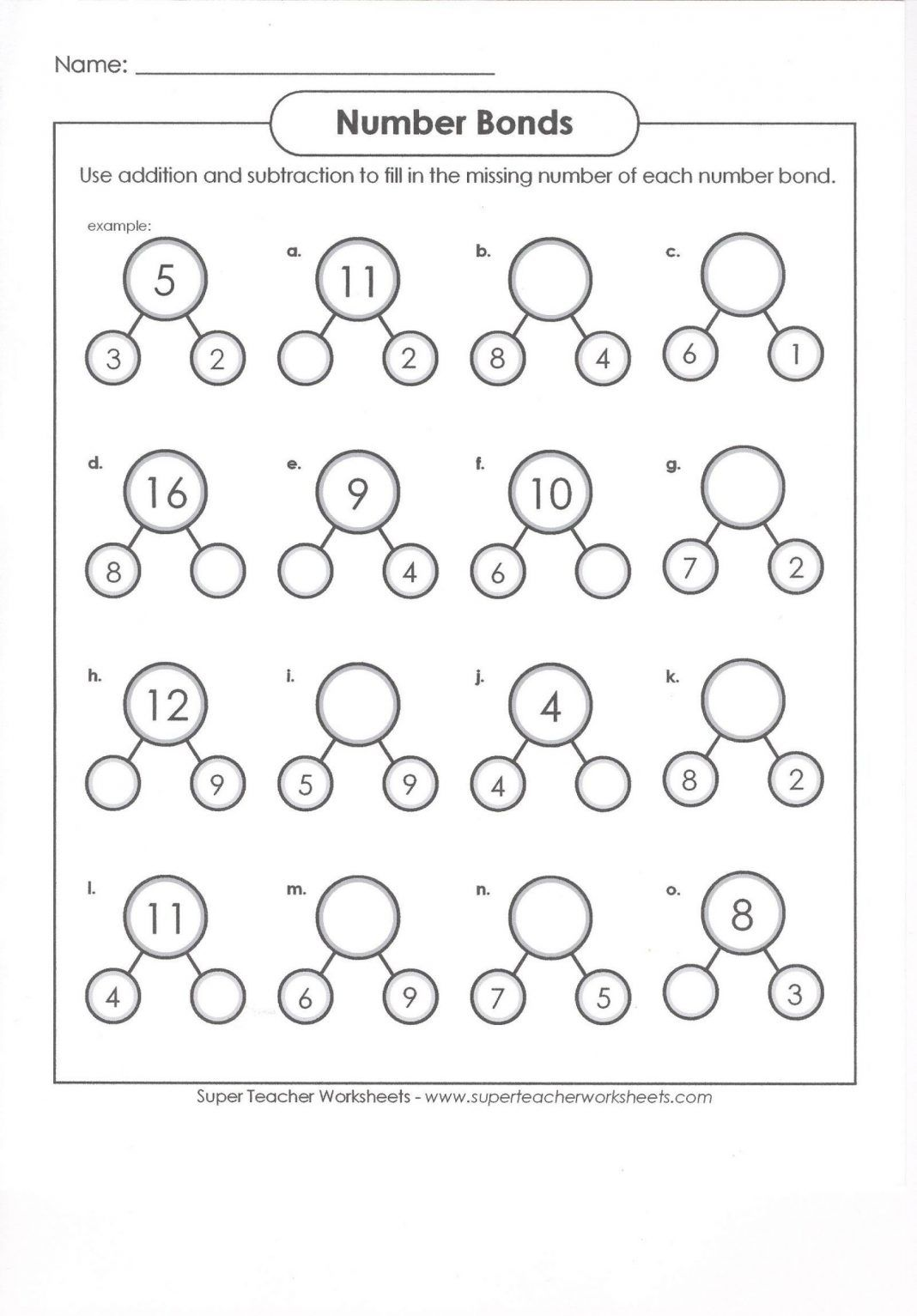 hight resolution of 1st Grade Math Worksheets Number Bond Worksheets 1st Grade First Grade Math  Works…   First grade math worksheets