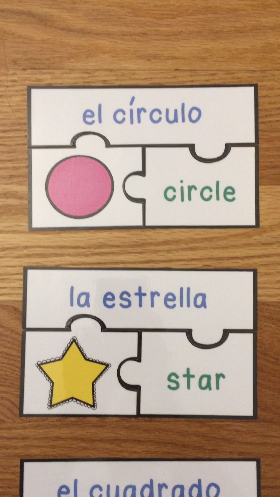 Spanish Shapes Game Puzzles ESL Activity for Beginners Las Formas Espanol