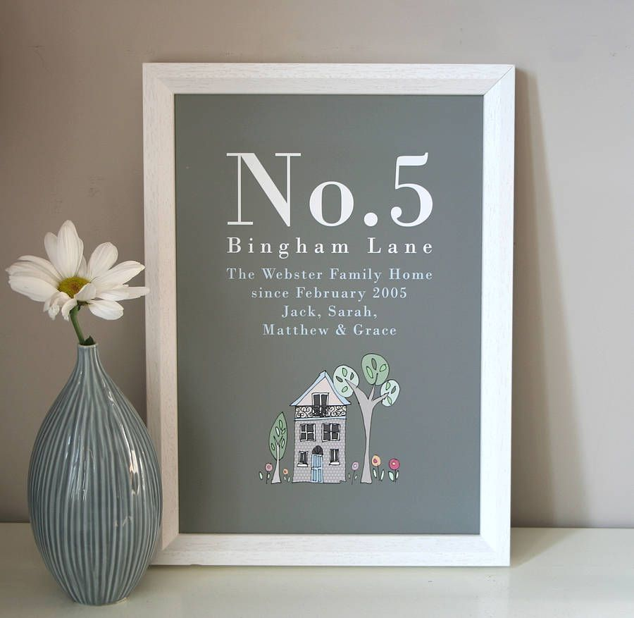 Personalised New Home Gifts Personalised Family Home Print Crafts New Home Gifts Home