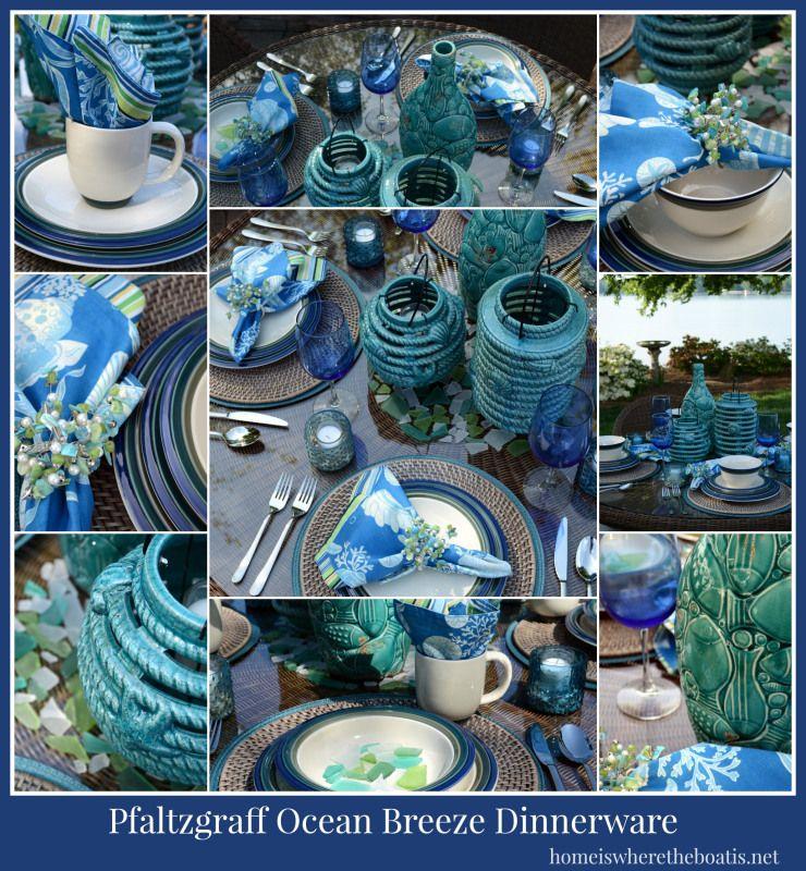 Pfaltzgraff Ocean Breeze Dinnerware #tablescape #Pfaltzgraff!!! Bebeu0027! & Pfaltzgraff Ocean Breeze Dinnerware #tablescape #Pfaltzgraff!!! Bebe ...
