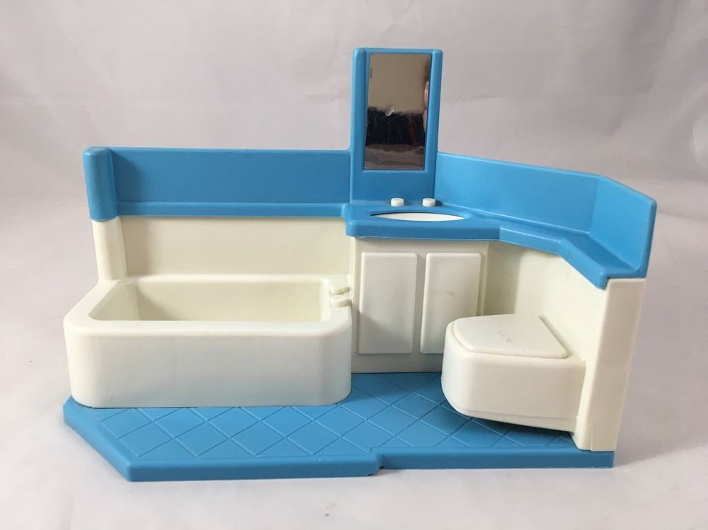 Awe Inspiring Vintage Little Tikes Blue Roof Doll House Replacement Parts Ocoug Best Dining Table And Chair Ideas Images Ocougorg