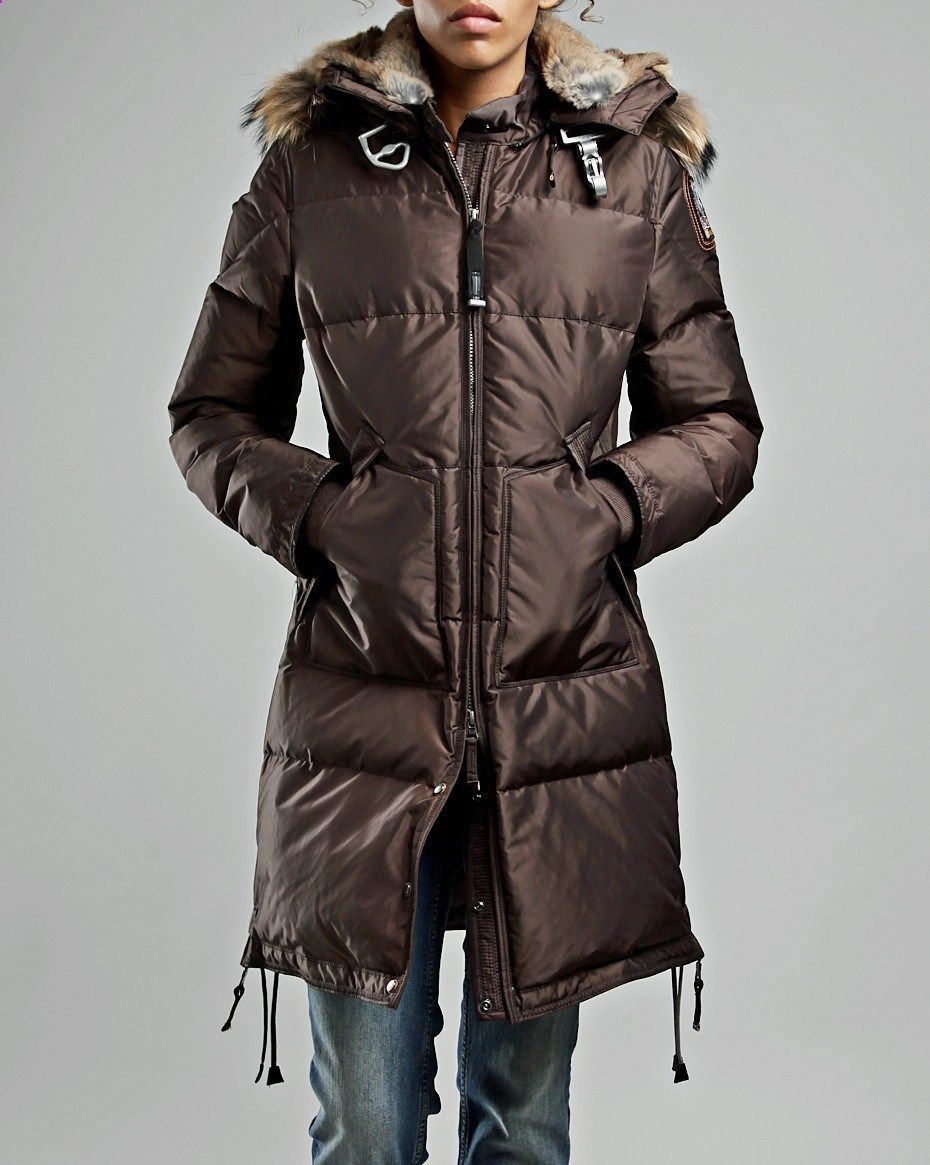 Parajumpers Long Bear Coat Brown Women | Jackets, Jackets