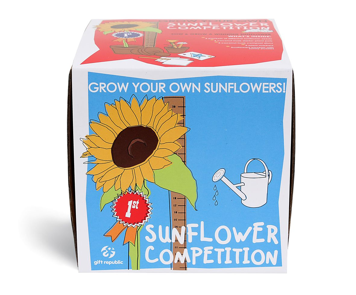 Sow Grow Sunflower Competition 9 99 Grow Kit Sunflower Gifts Unusual Gifts