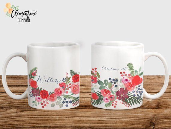 Personalized Mug - Christmas Mug - Personalized Name - Custom Mugs - Personalized Gift for Her - Personalized - Christmas Coffee Mug - Mug #custommugs