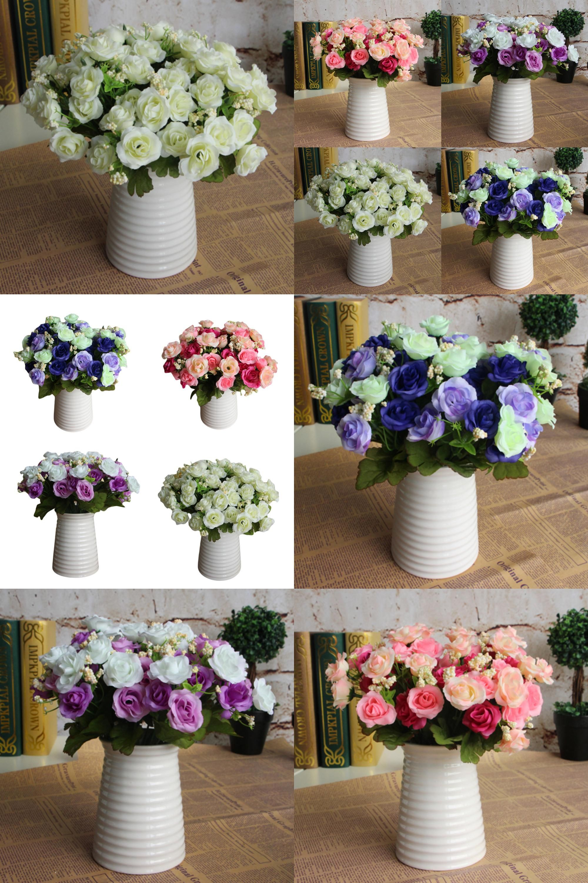 Wedding decoration ideas home  Visit to Buy  bunch Artificial Star Rose Flower Home Wedding Decor