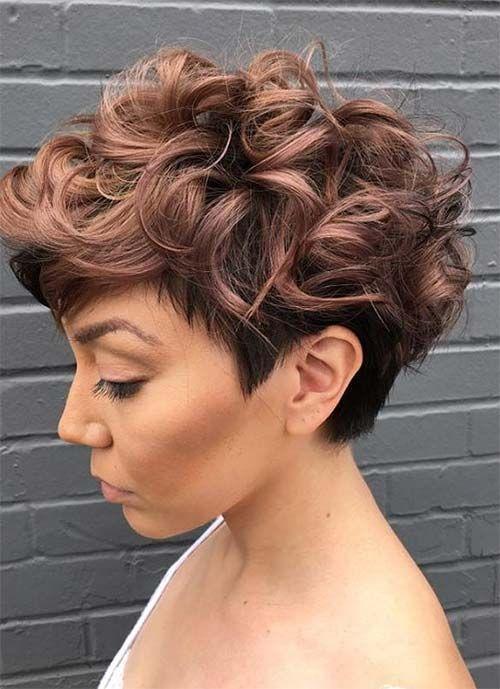 100 Short Hairstyles For Women Pixie Bob Undercut Hair And More Short Wavy Hair Hair Styles Short Curly Haircuts