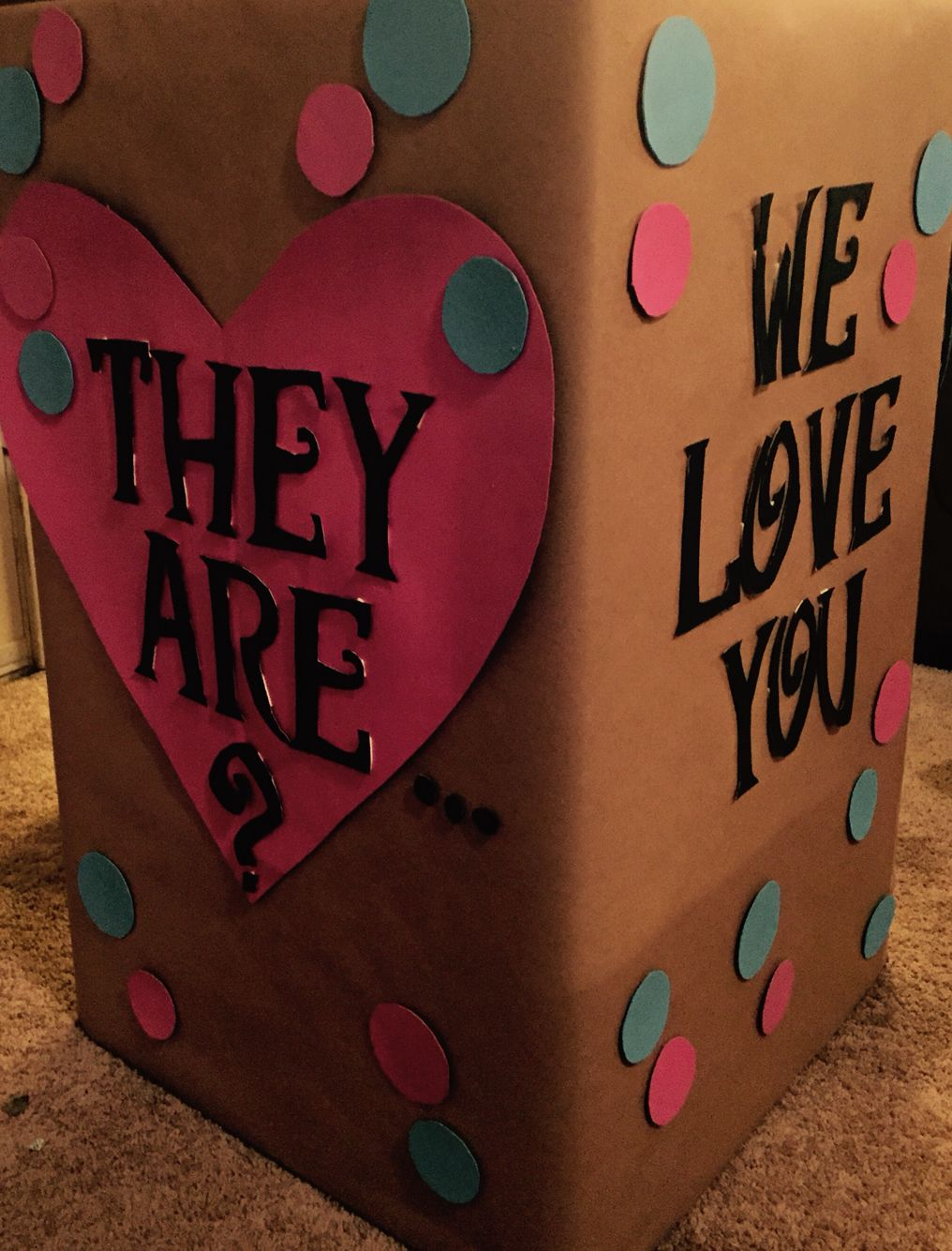 Gender reveal box diy