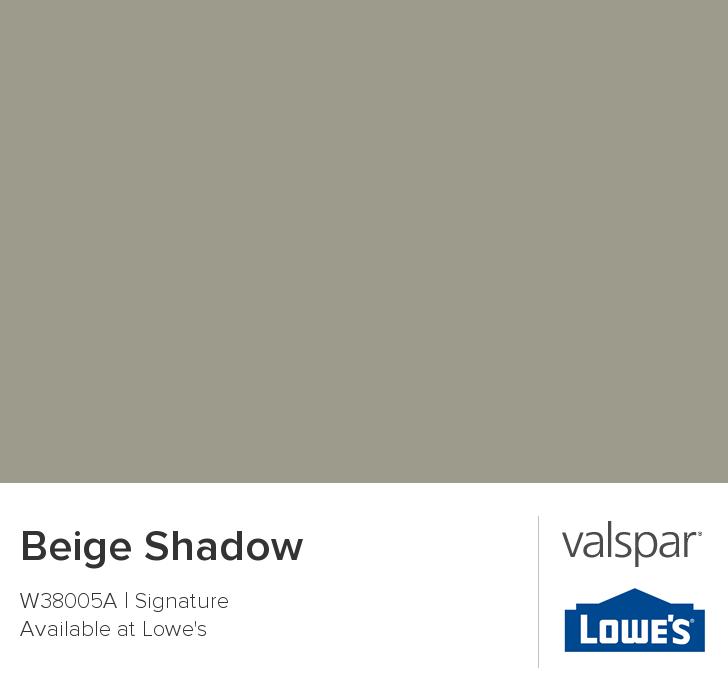 Valspar Paint - Color Chip - Beige Shadow possible dark accent ...
