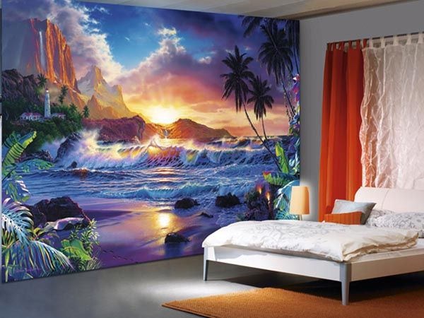 The full format 366x254 cm Ideal Decor wall murals give your rooms