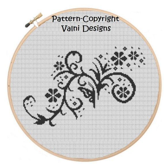 CR0010Abstract2 PDF Instant Download Cross Stitch by ValniDesigns, $4.00 spring pattern