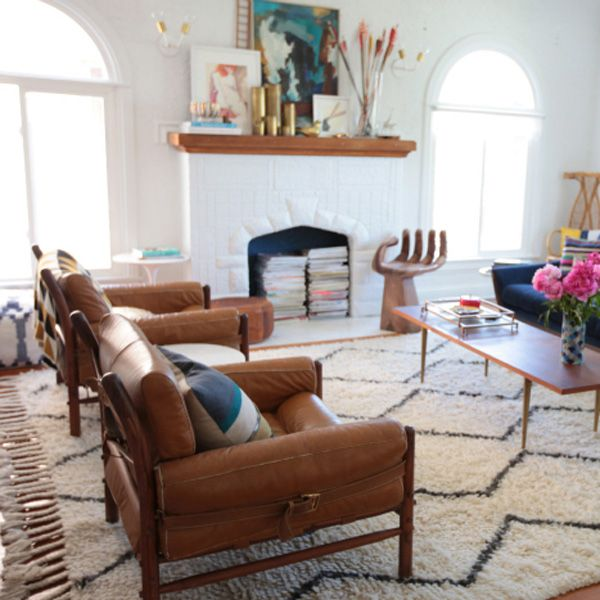 Marvelous Emily Henderson Choose Rug Size Living Room West  Photo