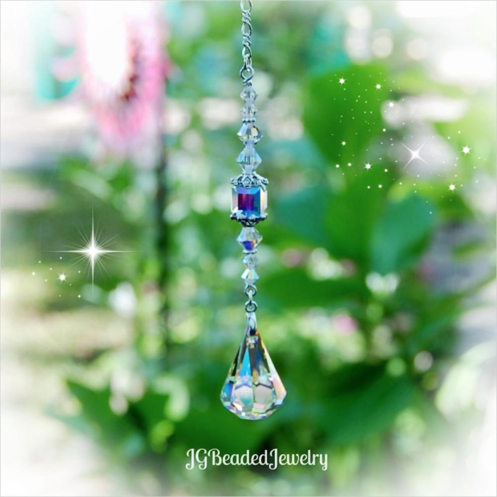 Swarovski Teardrop Crystal Suncatcher   JGBeads in 2020 | Crystal