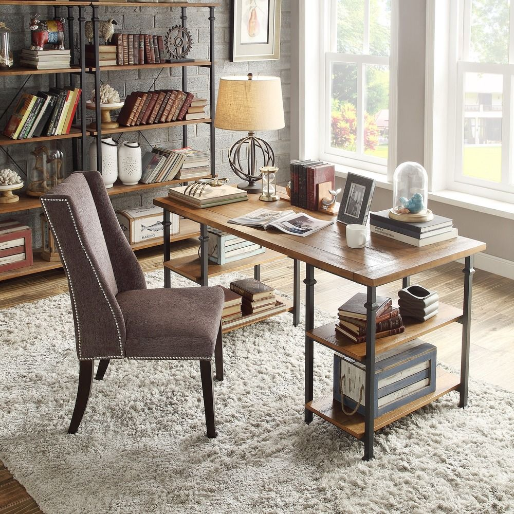 Tribecca Home Myra Vintage Modern Rustic Oak Storage Desk Ping Great Deals On Desks
