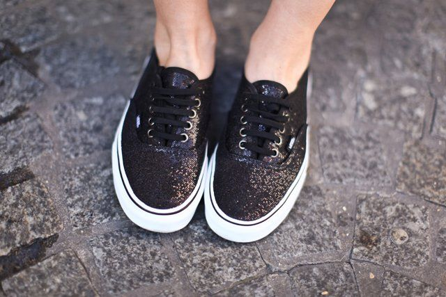 Parity > vans authentic glitter black, Up to 65% OFF