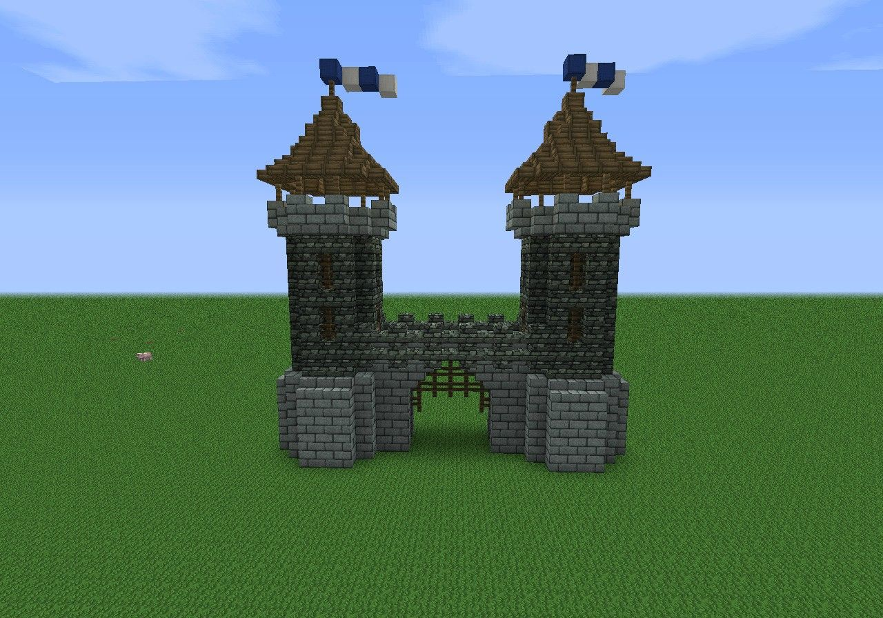 Medieval gate house minecraft pinterest medieval for Build a castle home