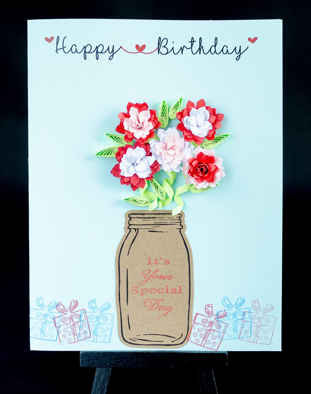 Friend Mum For Her Flowers Personalised Handmade 60th Birthday Card Sister