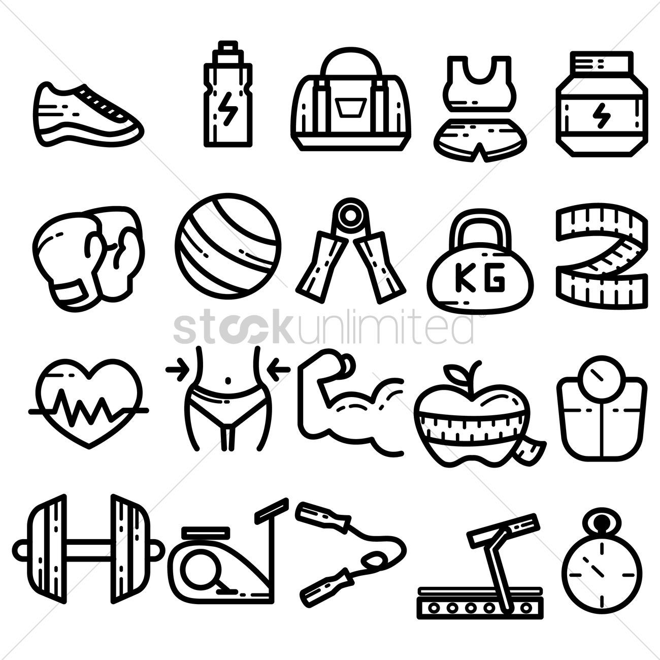 Set of fitness icons vectors, stock clipart , #Ad, #icons, #fitness, #Set, #clipart, #stock #affilia...