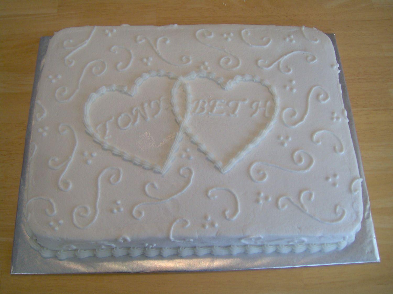 Tony And Beth Sheet Cake With Images Wedding Sheet Cakes