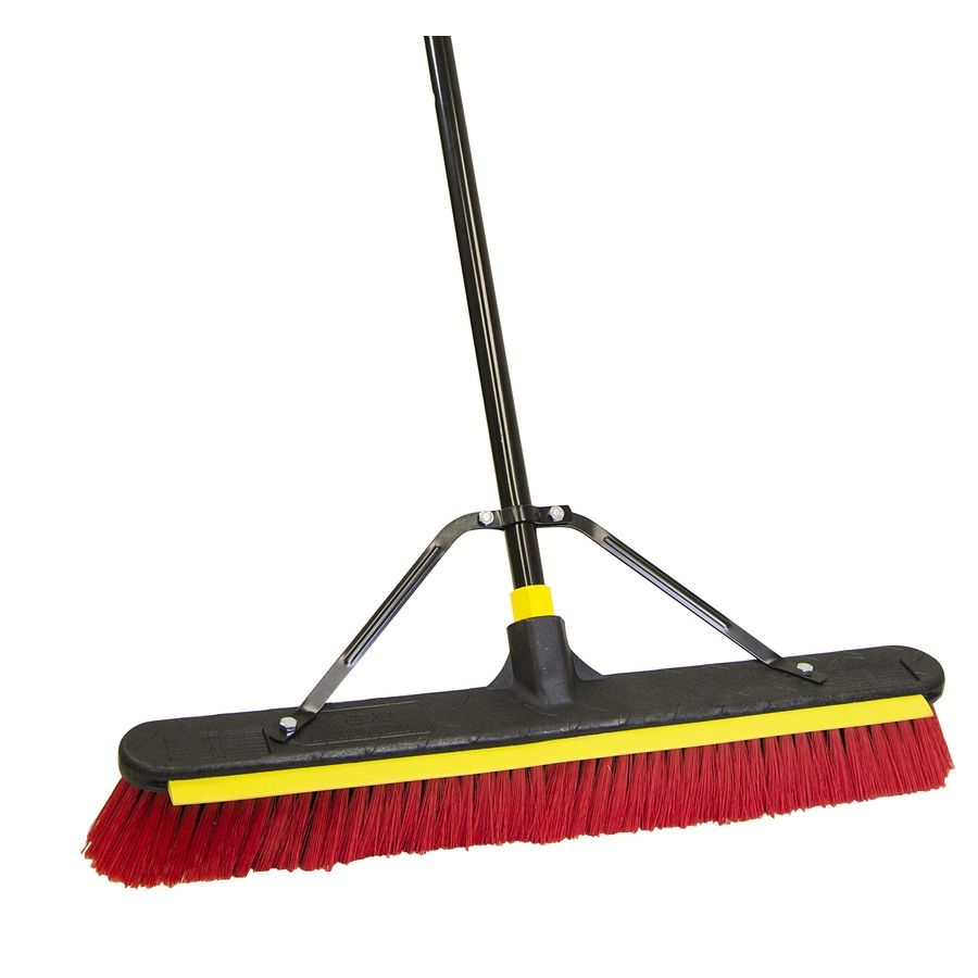 Quickie Bulldozer Poly Fiber 2 In 1 Squeegee Push Broom 00635lsu