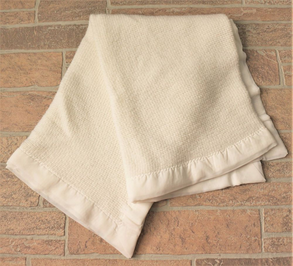 Solid White Baby Blanket