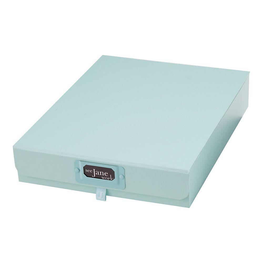 Decorative Document Storage Boxes See Jane Work Decorative Storage Document Box Blue Use Two Boxes