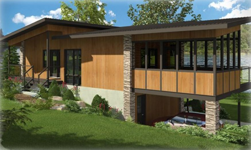 Casa moderna con madera ideas casa pinterest casas for Casas modernas imagenes y planos