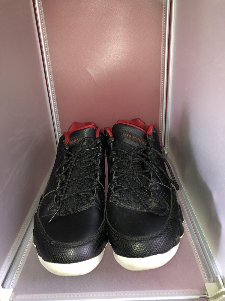 half off 9ceff 45640 Nike Air Jordan 9 Retro Low Mens 11.5 Black Gym Red White 832822 001   fashion